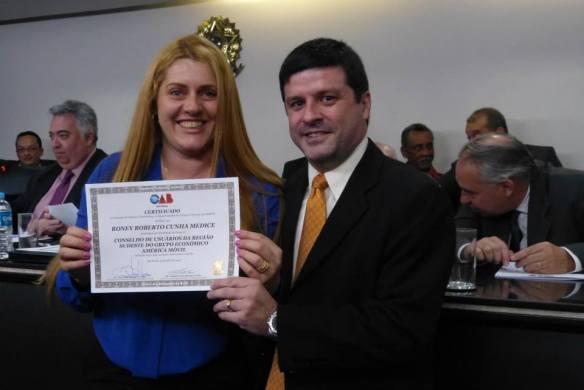 Certificado de Posse Festiva emitido pela seccional da OAB-SP
